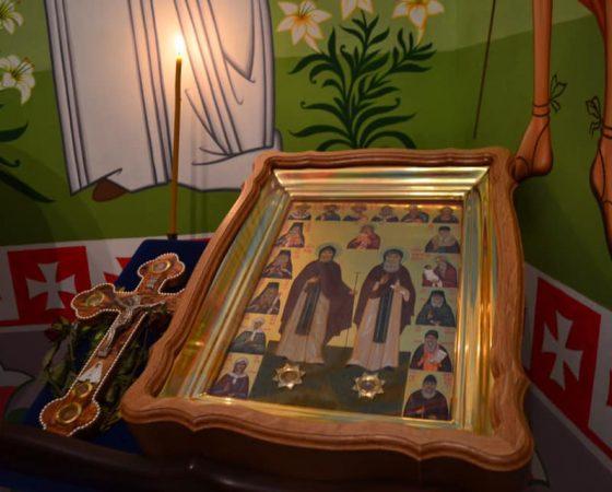 ikona świętych Hioba i Amfilochiusza Poczajowskich w Sokołowsku